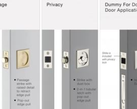 EMTEK HAS NEW TUBULAR POCKET DOOR LOCKS