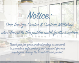 Design Showroom & Millshop Closed to Public